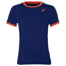 Asics T-shirt CLUB SS TOP BLEU